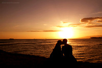 Sunset Lovers at Magic Island